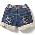 cecile童裝---毛絨滾邊絨布短褲 (3)