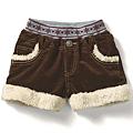 cecile童裝---毛絨滾邊絨布短褲 (4)