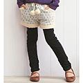 cecile童裝--假二件式舒適緹花布短褲