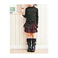 cecile童裝---格紋口袋蛋糕裙(紅色)