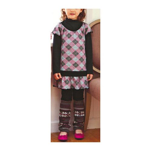 cecile童裝---菱格二件式洋裝