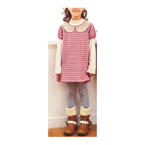 cecile童裝---領口蕾絲造型二件式洋裝 (2)