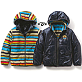 cecile童裝---雙面穿彩色保暖外套