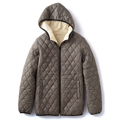 cecile發熱系列---Smart Heat內外雙重加工保暖輕盈連帽外套 (2)