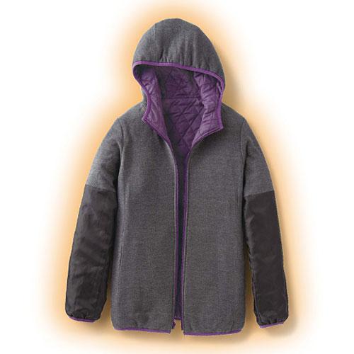 cecile發熱系列---Smart Heat內外雙重加工保暖輕盈連帽外套 (6)