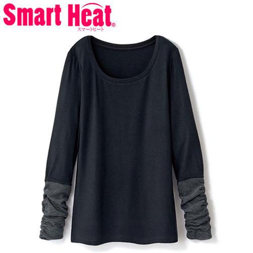cecile發熱系列---Smart Heat異素材袖口造型長袖上衣