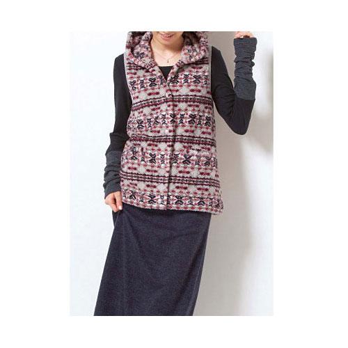 cecile發熱系列---Smart Heat異素材袖口造型長袖上衣 (4)
