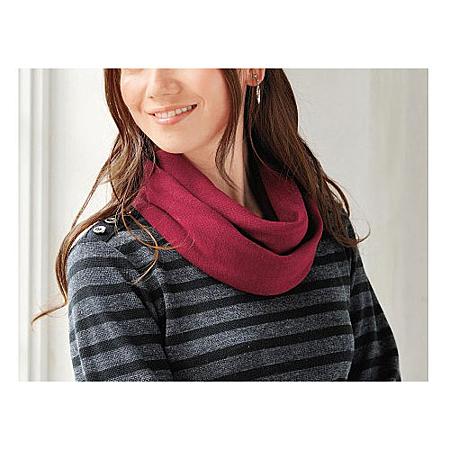 cecile發熱系列---Smart Heat遠紅外線針織素面長上衣+圍脖 (2)