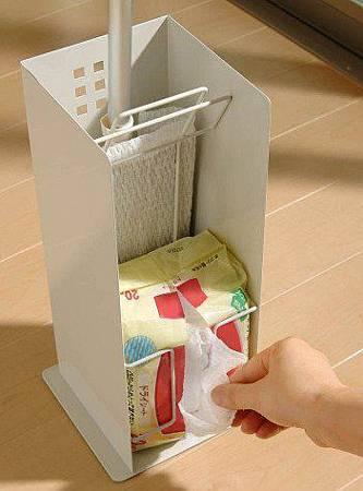 《純白品味》多功能掃除用具收納架