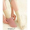cecile居家配件-日本專利保暖吸濕不悶熱絹+混棉短襪2件組