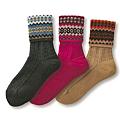 cecile居家配件-日本製可愛冬季圖案反折短襪3雙組 (2)