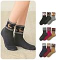 cecile居家配件-日本製可愛冬季圖案反折短襪3雙組 (3)