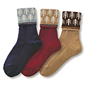cecile居家配件-日本製可愛冬季圖案反折短襪3雙組 (4)