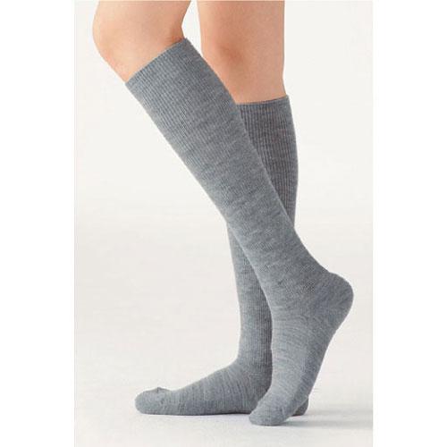 cecile居家配件-日本製高伸縮性不緊繃混羊毛足底加厚小腿襪 (2)