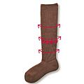 cecile居家配件-日本製高伸縮性不緊繃混羊毛足底加厚小腿襪 (4)
