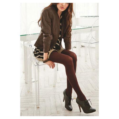 cecile居家配件-日本製高品質440針保暖優雅沉穩純色調絲襪 (2)