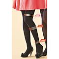 cecile居家配件-日本製專利纖維三段加壓纖腿黑色絲襪