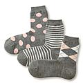 cecile居家配件-日本製混羊毛不滑落直角襪