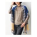 cecile居家配件-光澤千鳥格色塊大披肩圍巾 (3)