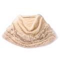 cecile居家配件-名媛時尚造型溫暖兔毛編織披肩