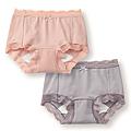 cecile居家配件-消臭加工舒適無痕蕾絲4角生理褲2件組