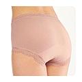 cecile居家配件-消臭加工舒適無痕蕾絲4角生理褲2件組 (2)