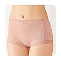 cecile居家配件-消臭加工舒適無痕蕾絲4角生理褲2件組 (3)