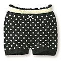 cecile居家配件-高伸縮性圓點毛料保暖褲 (2)