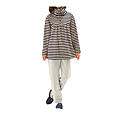 cecile居家配件-腰部雙層保暖伸縮袖口條紋家居服 (3)