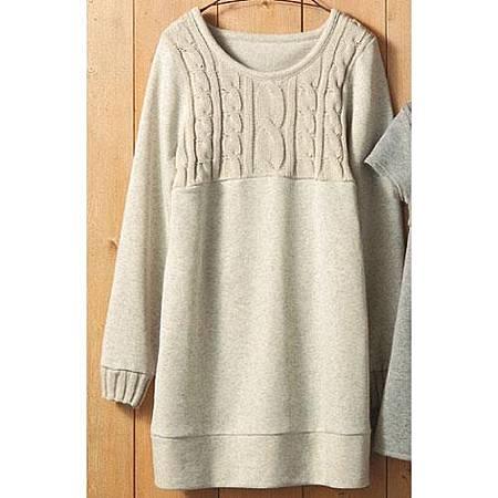 cecile親子裝系列-內刷毛長版針織上衣