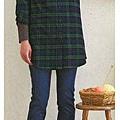 cecile親子裝系列-格紋長版襯衫