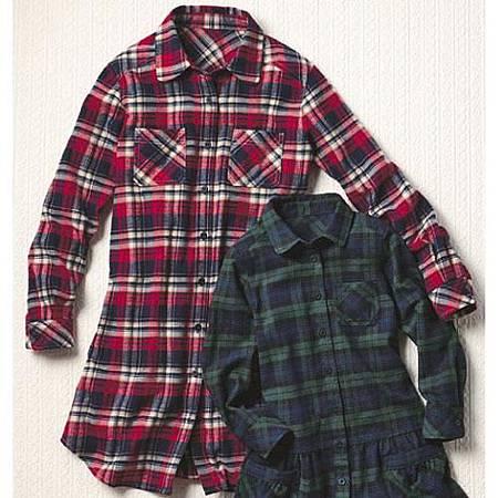 cecile親子裝系列-格紋長版襯衫 (2)