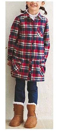 cecile親子裝系列-格紋長版襯衫 (3)