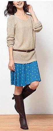 百搭活潑彩色垂墜短裙 (2)