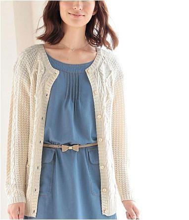 麻花編織外套 (2)