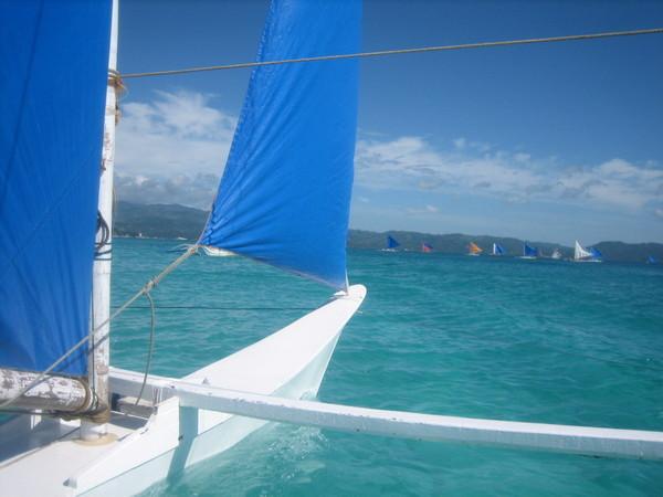 風帆船前端