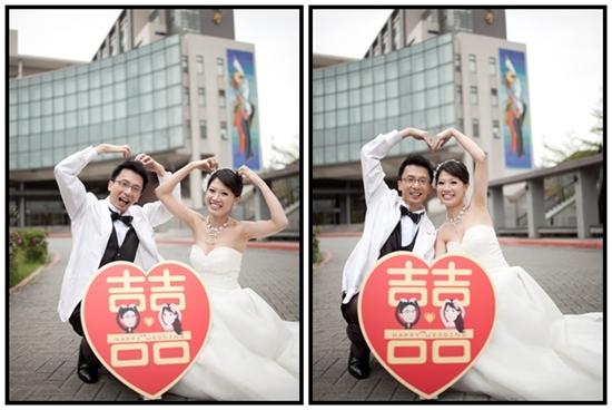 德宜&思宇_Q版立牌+婚紗照