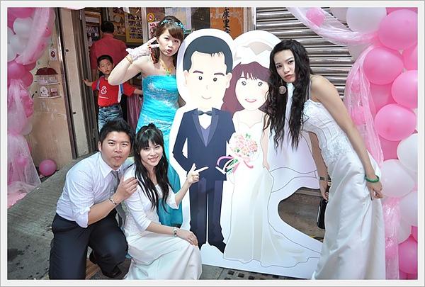 家豪&嘉玉結婚 Q版婚紗人型立牌實體照