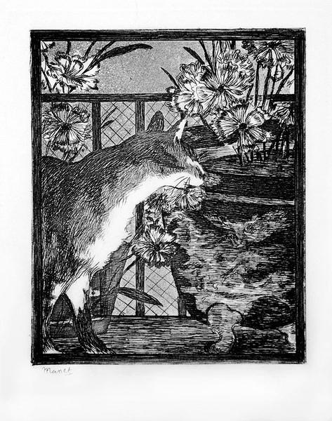 Le chat et les fleurs 1869.jpg
