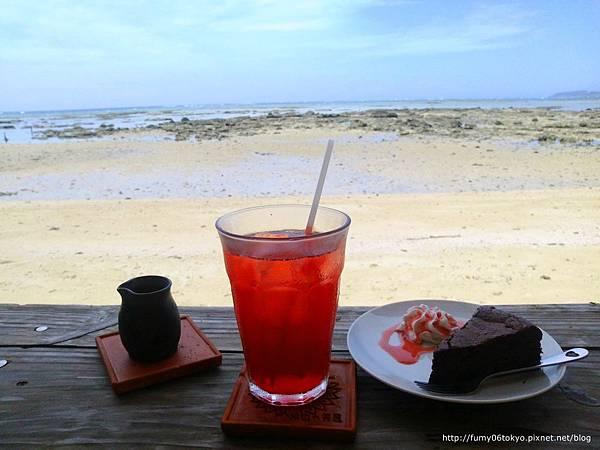 新原海灘,浜辺の茶屋