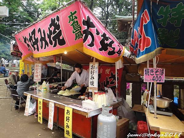東京根津神社屋台-廣島風好吃燒