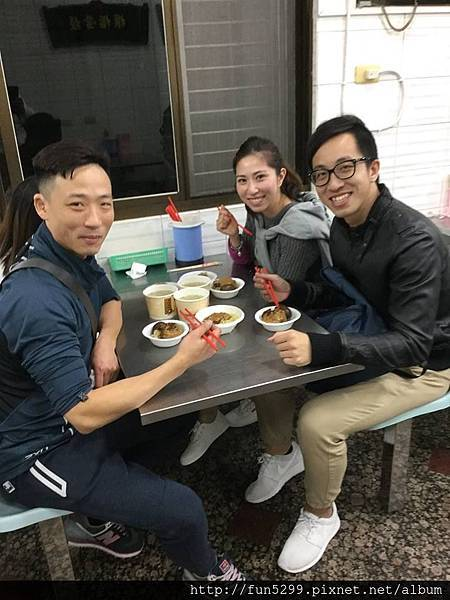 香港 蔡'S、王'S、 魏'R、 余'R,在王塔米糕享用美食。