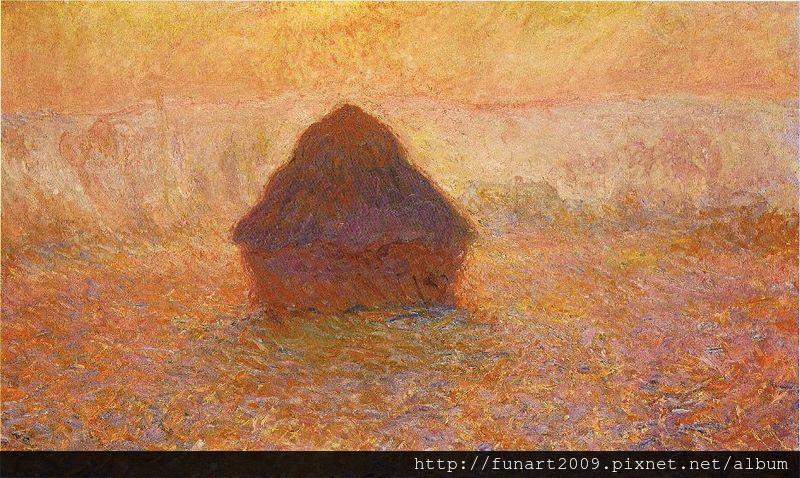 1891 乾草堆sun in the mist 65x100cm