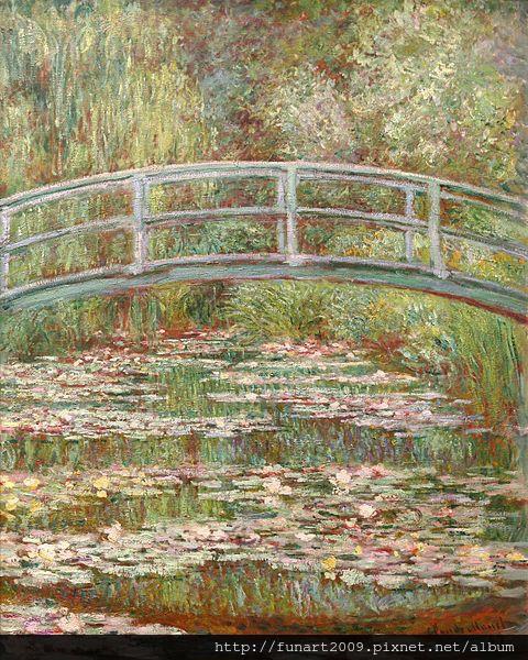 1899 睡蓮.綠色的和諧  油畫 92.7x73.7cm
