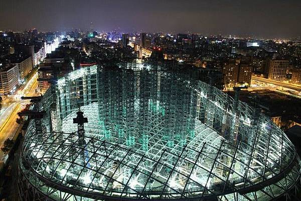 大巨蛋復工-夜間工程