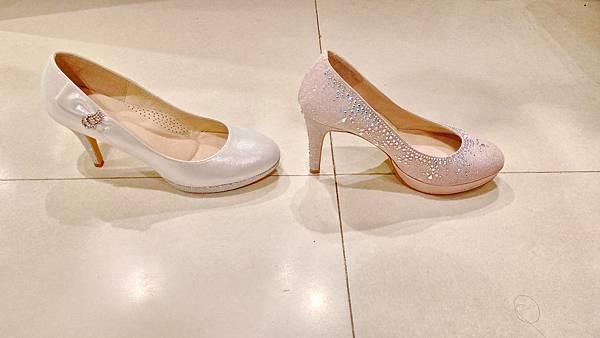 婚鞋比較  側面
