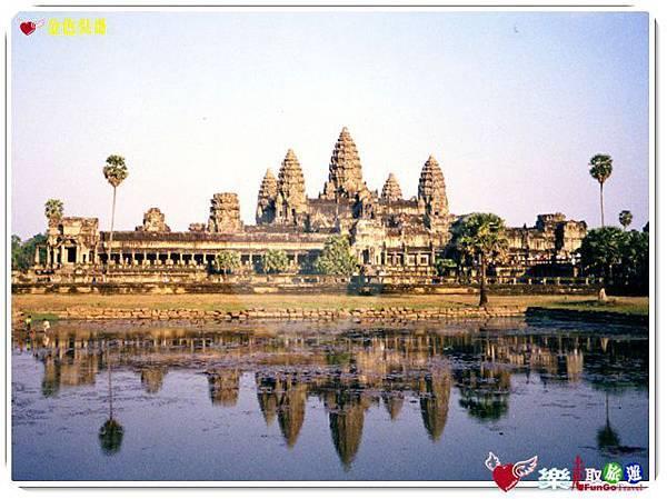 金色吳哥-小吳哥窟AngkorWat水中倒影-01