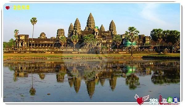 金色吳哥-小吳哥窟AngkorWat水中倒影-07-16-9