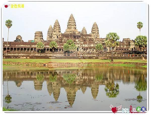 金色吳哥-小吳哥窟AngkorWat水中倒影-05