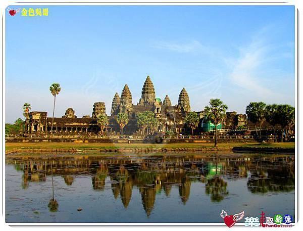 金色吳哥-小吳哥窟AngkorWat水中倒影-07